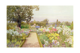 The Lily Border at Great Tangley Manor, Surrey Giclee Print by Thomas H. Hunn