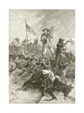 Custer's Last Fight Giclee Print by Alfred R. Waud
