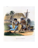 Basket Weavers, 1827-35 Giclee Print by M.E. Burnouf