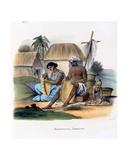 Basket Weavers, 1827-35 Giclee Print by M.E. Burnouf