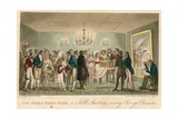 The Opera Green Room, or Noble Amateurs Viewing Foreign Curiosities Giclee Print by I. Robert & George Cruikshank