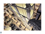 Batman: View from Above Looking Down on Gotham City and Road with Cars and Tops of Buildings Posters