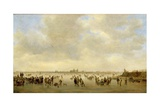 Winter Landscape with Skaters before S'Hertogenbosch, 1646 Giclee Print by Jan Josephsz. Van Goyen