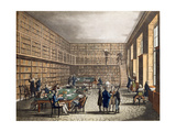 The Library at the Royal Institution, Albemarle Street, Engraved by Joseph Constantine… Giclee Print by T. & Pugin Rowlandson