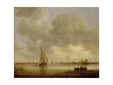 An Estuary with Boats, after 1650 Giclee Print by Jan Josephsz. Van Goyen