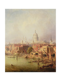 Queenhithe - St. Paul's in the Distance, 1860 Giclee Print by F. Lloyds