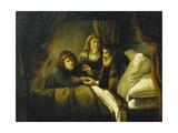 Issac Blessing Jacob, C.1640 Giclee Print by Rembrandt Harmensz. van Rijn
