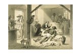 The Death of Uncle Tom, Plate 11 from 'Uncle Tom's Cabin' by Harriet Beecher Stowe (1811-96)… Giclee Print by Adolphe Jean-baptiste Bayot