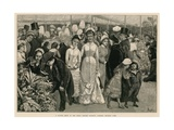 A Flower Show at the Royal Botanic Society's Gardens, Regent's Park, London Giclee Print by John P. Ernslie