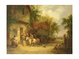 A Woodside Inn, 1841 Giclee Print by William Snr. Shayer