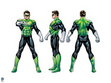 Justice League: Green Lantern; Front, Side, and Back View Prints