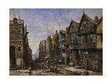Chester: Watergate Street from the Corner of Crook Street, with Eastgate Beyond Giclee Print by Louise J. Rayner
