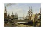 A View of Copenhagen with the Knippelsbro, 1882 Giclee Print by J.E. Carl Rasmussen