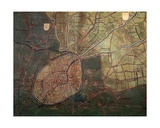 Map of the Liberty of Bruges Giclee Print by Pieter Jansz. Pourbus
