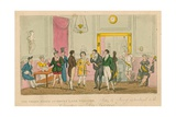 The Green Room at Drury Lane Theatre, London Giclee Print by I. Robert & George Cruikshank