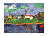 The Elbe Near Dresden, c.1921 Giclee Print by Oskar Kokoschka