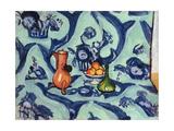 Still Life with Blue Tablecloth, 1906 Giclée-trykk av Henri Matisse