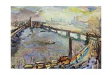 Large Thames View I, London, 1926 Giclee Print by Oskar Kokoschka