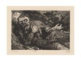 Verwundeter (Herbst 1916, Bapaume) Plate 6 from the Portfolio 'Der Krieg', 1924 Giclée-Druck von Otto Dix