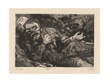 Verwundeter (Herbst 1916, Bapaume) Plate 6 from the Portfolio 'Der Krieg', 1924 Giclee Print by Otto Dix