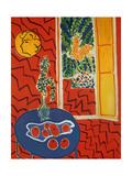 Red Interior: Still Life on a Blue Table, 1947 Giclée-trykk av Henri Matisse