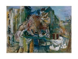The Cat, 1926 Giclee Print by Oskar Kokoschka