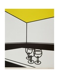 Black and White Cafe, 1973 Giclee Print by Patrick Caulfield