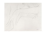 Study of a Model Leaning on the Back of a Chair, 1934 Wydruk giclee autor Henri Matisse