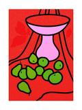 Patrick Caulfield - Fruit and Bowl, 1979-80 Digitálně vytištěná reprodukce