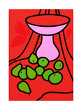 Fruit and Bowl, 1979-80 Giclee Print by Patrick Caulfield