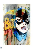 Batman: Batman and Catwoman Combination with Pop Art Look Close Up of Catwoman Prints