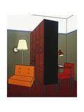Patrick Caulfield - Room Divider, 1971 Digitálně vytištěná reprodukce