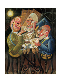 The Skat Players, 1920 Gicléetryck av Otto Dix