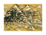 The Speed of an Automobile, 1913 Gicléetryck av Giacomo Balla
