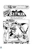 Batman: Black and White Batman Family Cover with Batman Robin and Batgirl Fighting a Villan Prints