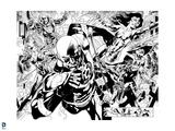 Green Lantern: Blackest Night Protagonists (Black and White) Poster