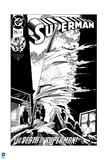 """Superman: Superman No. 2 """"The Death of Superman!"""" (Black and White) Posters"""