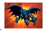 Batman: Batman Jumping Forward One Leg Visible and One Arm Extended Forward Reaching Out Prints