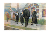 Self Portrait Among Church Goers Giclee Print by Ben Shahn