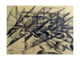 Automobile, Speed and Light, 1914 Giclée-trykk av Giacomo Balla