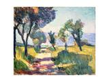 Olivträd Gicléetryck av Henri Matisse