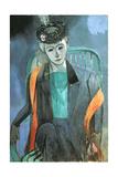 Portrait of Mme. Matisse, 1913 Giclée-trykk av Henri Matisse