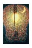 Street Lamp, Study of Light, 1909 Giclée-Druck von Giacomo Balla