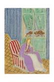 The Purple Dress, 1942 Giclée-trykk av Henri Matisse
