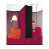 Interior with Room Divider, 1971 Giclee Print by Patrick Caulfield