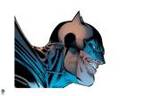 Batman: Side View of Batmans Face with a Grin Prints