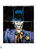 Batman: Torn Image of Batmans Head and Smiling Mouth of The Joker Underneath Posters