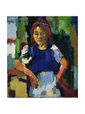 Girl with Doll, c.1921 Giclee Print by Oskar Kokoschka