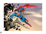 Superman: Superman Smashing Rock Art