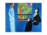 Conversation, 1909-1912 Gicléedruk van Henri Matisse